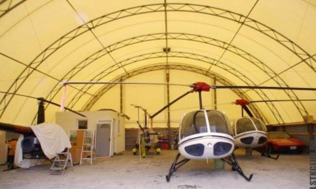 Тентовый ангар под вертолет