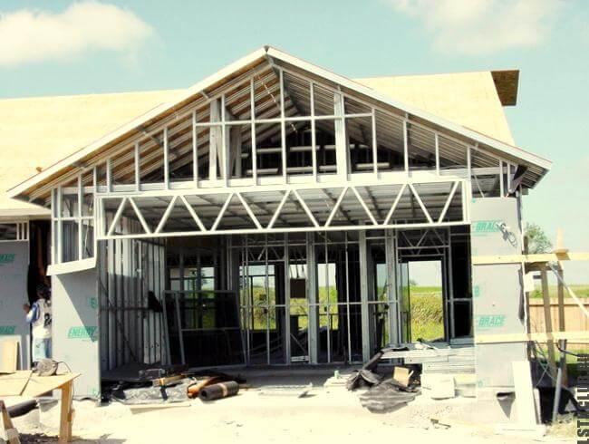 Строительство каркаса дома из ЛСТК по евро проекту