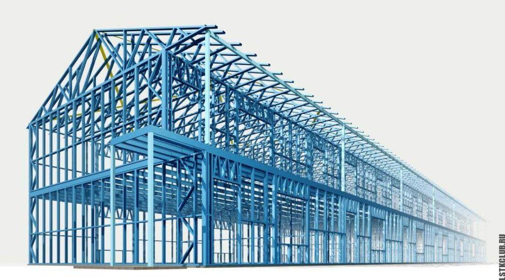 ЛСТК конструкция в проектном виде, которую можно купить изи заказать