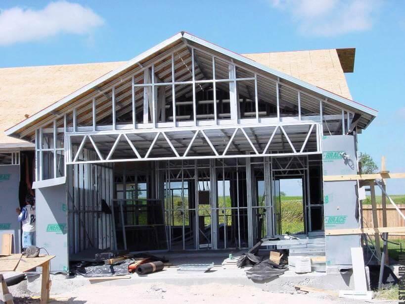 Строительство дома из металлического каркаса