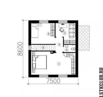 План второго этажа (мансарды)
