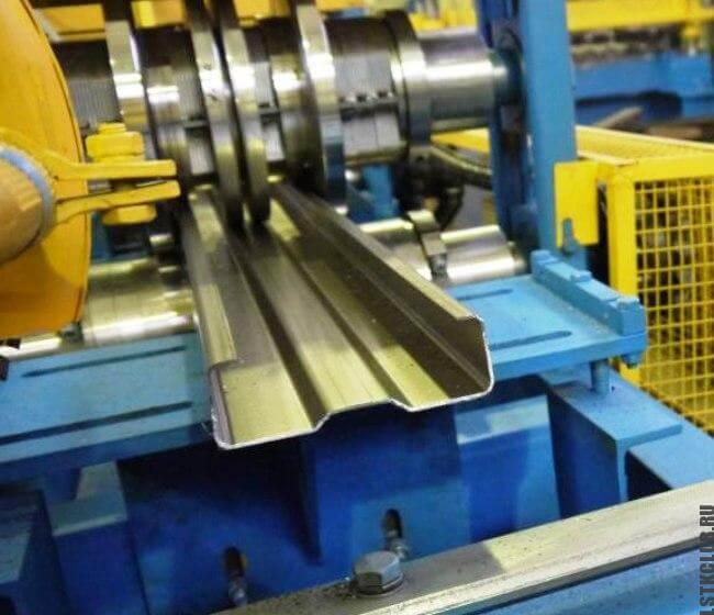 Производство ЛСТК провиля: профилегибочная установка