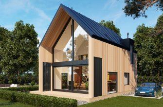 Загородный домик из металлокаркаса