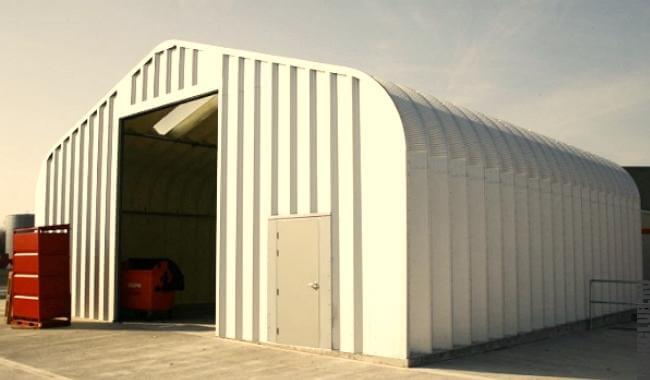Бескаркасный шатровый ангар из лёгких конструкций