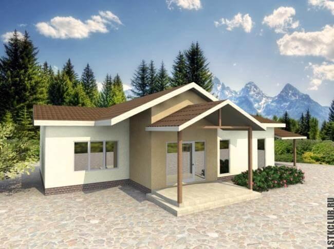 Проект (визуализация) жилого дома, коттеджа