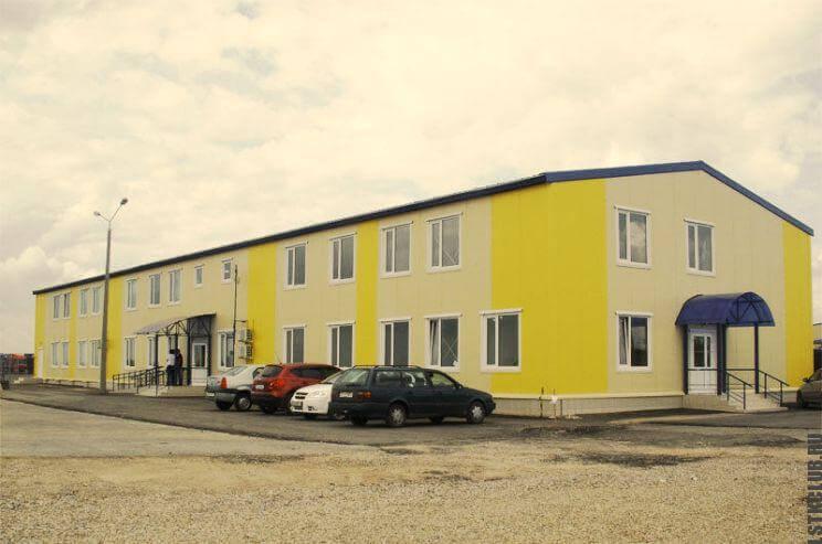Двухэтажное здание из ЛСТК построенное по готовому, типовому комплекту
