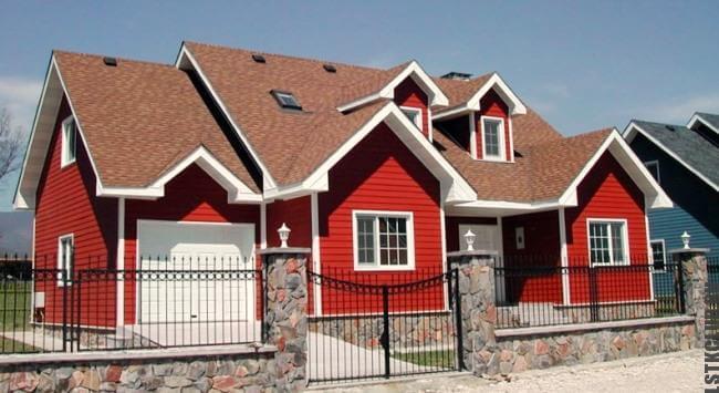 Готовый дом построенный по уникальному проекту из стального каркаса