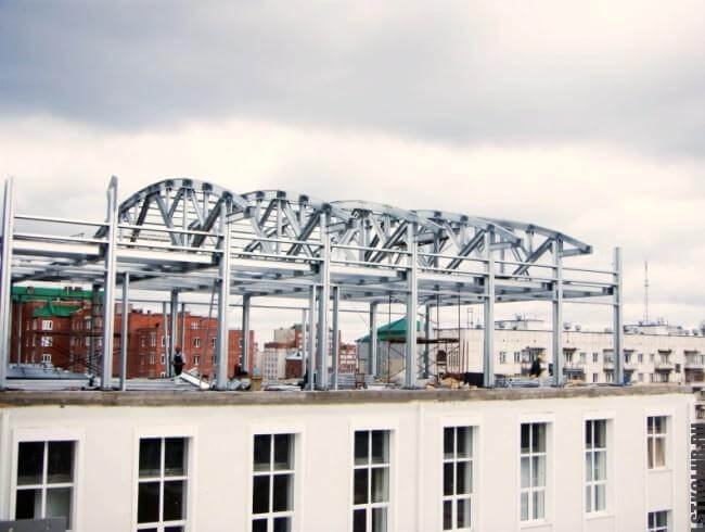 Строительство мансарды из ЛСТК