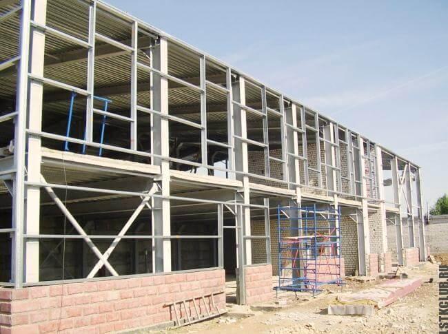 Этап строительства дома по каркасной технологии из ЛСТК