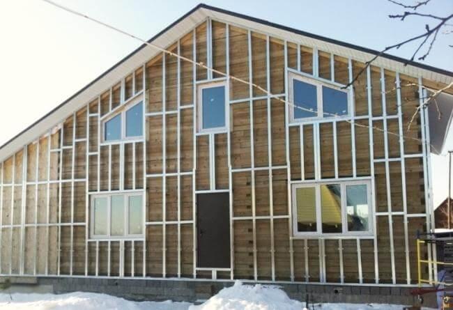 Готовый дом из металлического каркаса