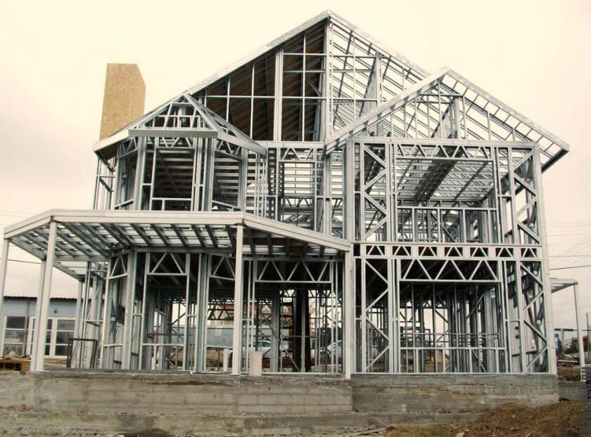Строительство жилого дома из каркаса ЛСТК под ключ