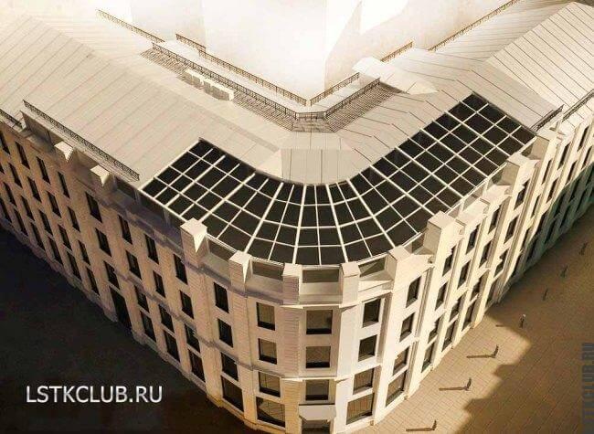 Проект крыши большого здания