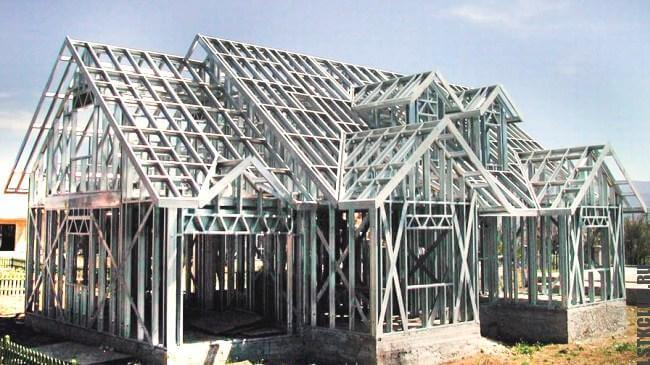 Большая металлическая конструкция из ЛСТК и ЛМК профиля