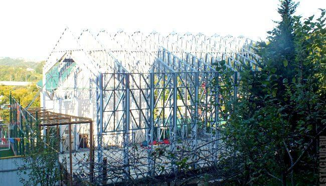 Строительсвто ангаров из ЛСТК для базы и завода переработки древесины