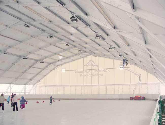 Ледовый каток построенный по технологии ЛСТК