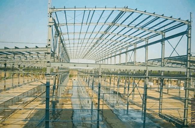 Промышленный ангар построенный по типовому проекту
