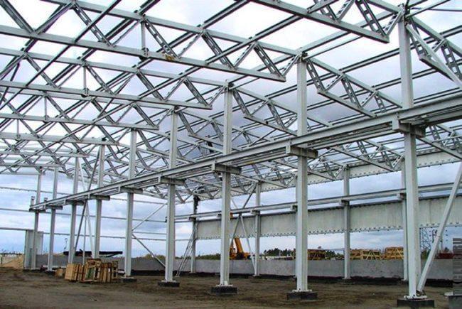 Производственное сооружение из металлических конструкций ЛСТК и ЛМК.