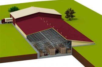 Проект быстровозводимого овощехранилища из ЛСТК и ЛМК