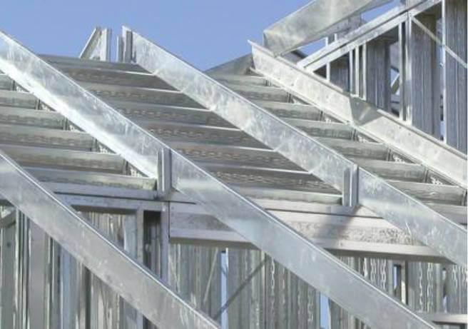 Крыша из термопрофиля ЛСТК
