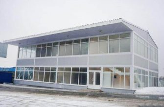 Быстровозводимое здание магазина ЛСТК