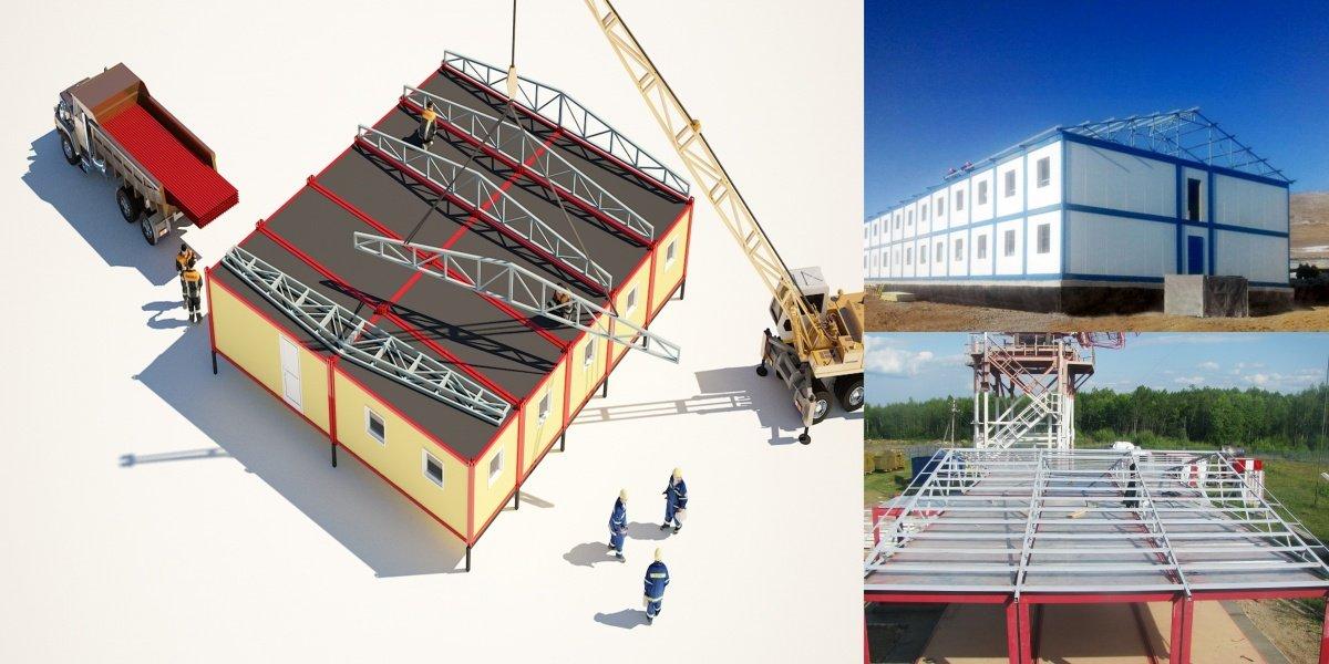 Монтаж модульных зданий