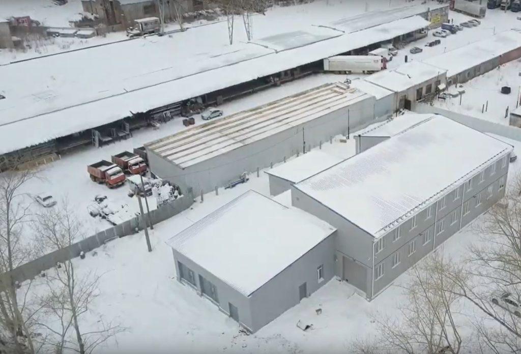 Обзор. Здание 3 в 1: склад, офис, производство.